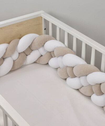 Baby Oliver Πάντα Πλεξούδα Design46-6714/3004 velour 80% βαμβάκι - 20% πολυεστερ 24Χ203White Mocca