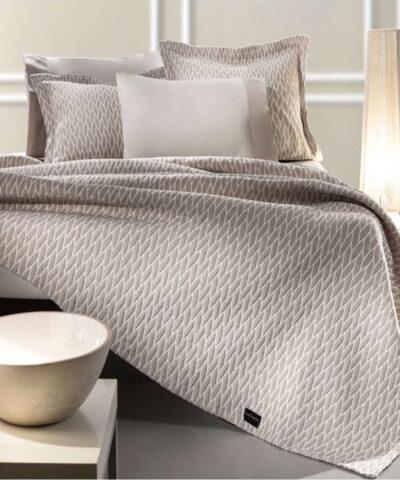 Harvey Κουβέρτα Βαμβακερή Silver | Natural
